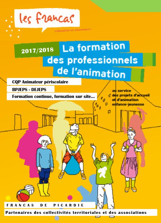 Formations des Professionnels de l'Animation 2017 / 2018