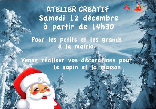 L'invitation à l'Atelier créatif du 12 décembre 2009