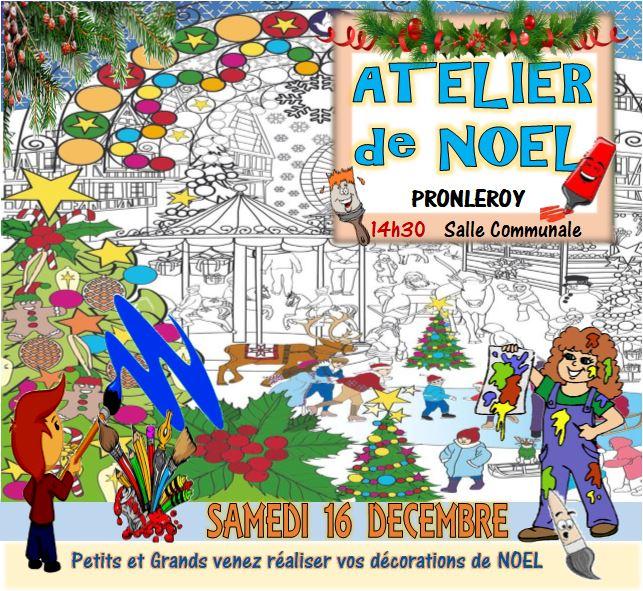 ATELIER de NOEL...le samedi 16 Décembre