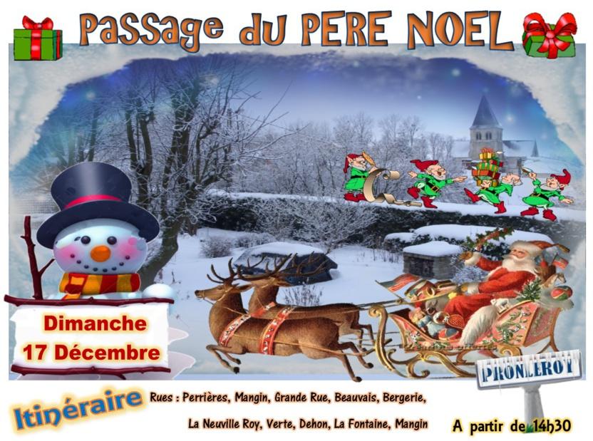 Passage du PÈRE NOEL le Dimanche 17 Décembre