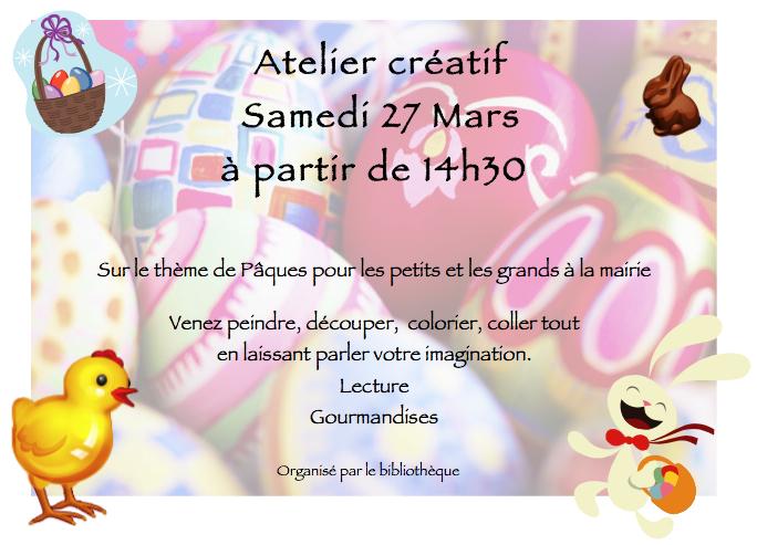 Atelier créatif de Pâques