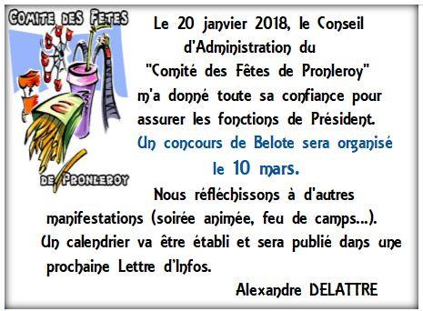 COMITÉ des FÊTES... 2018