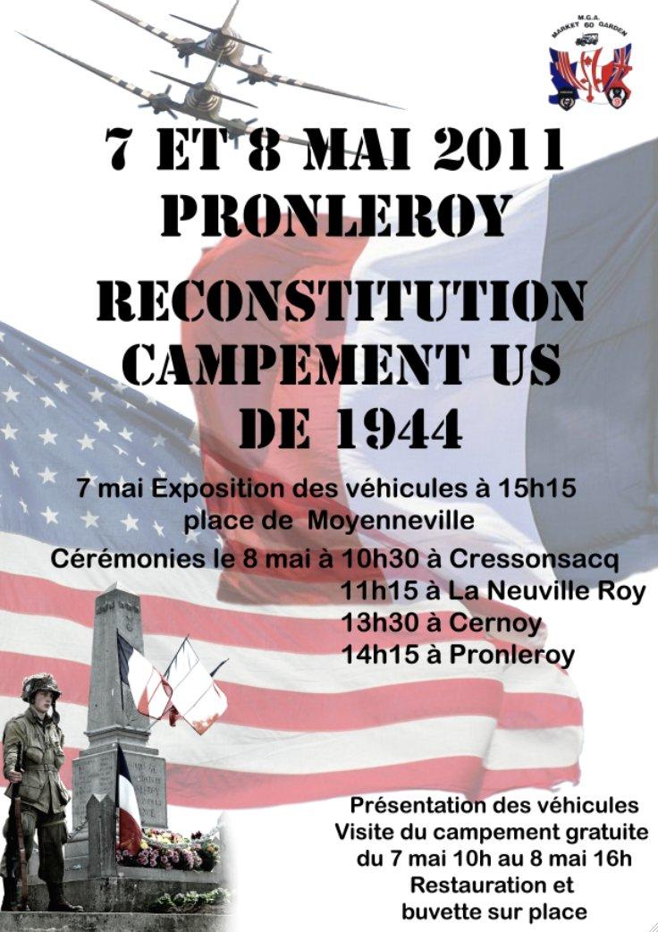 Reconstitution d'un campement militaire