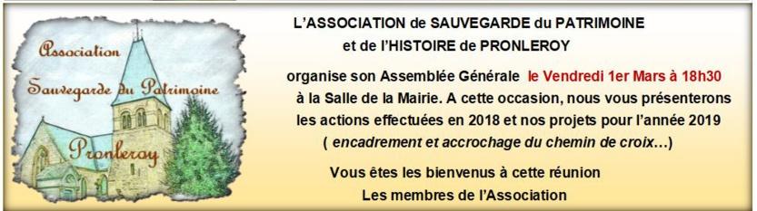 Assemblée Générale ASSOCIATION de SAUVEGARDE du PATRIMOINE