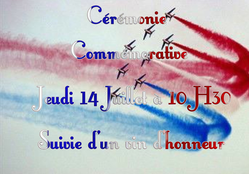 Commémoration du 14 juillet