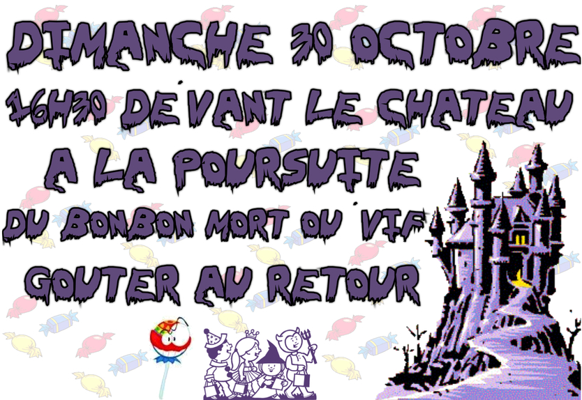 "HALLOWEEN "" Chasse aux bonbons"""