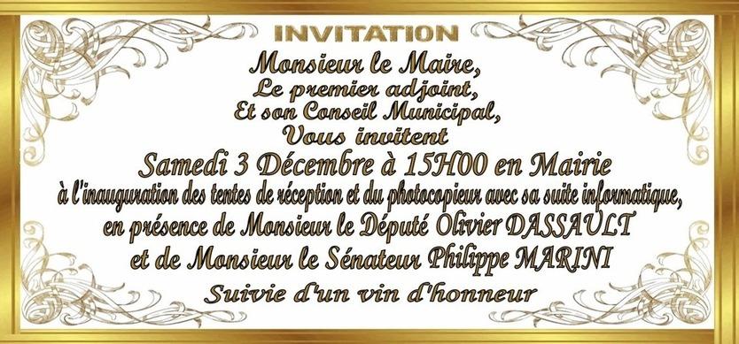 Inauguration le 3 décembre 2011 à 15h00