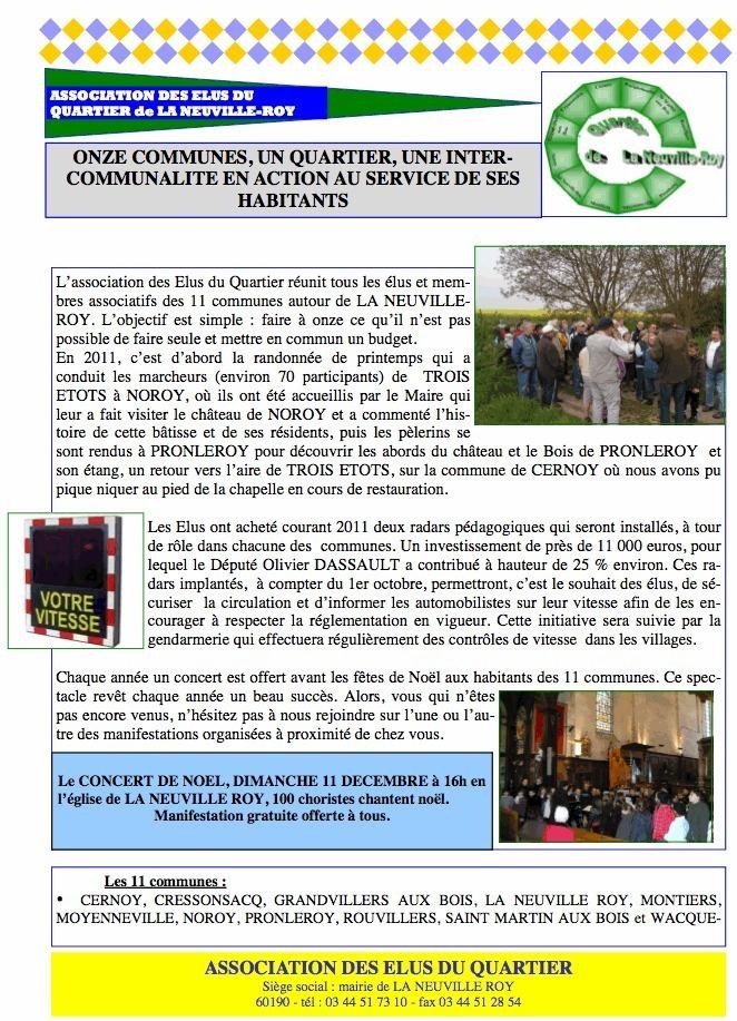 Association des élus du quartier de La Neuville Roy