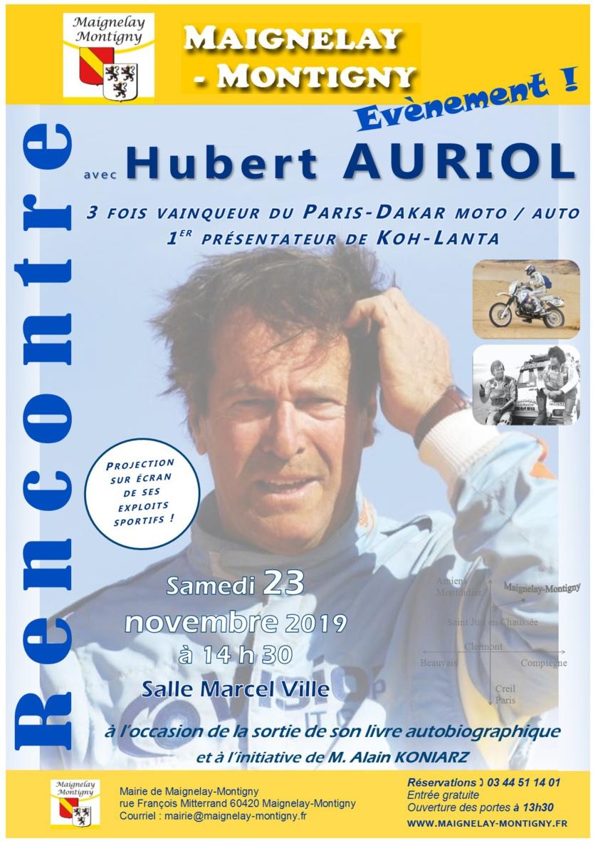 Samedi 23 Novembre Hubert AURIOL