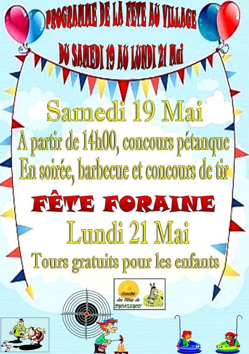 C'est la fête au village du 19 au 21 Mai