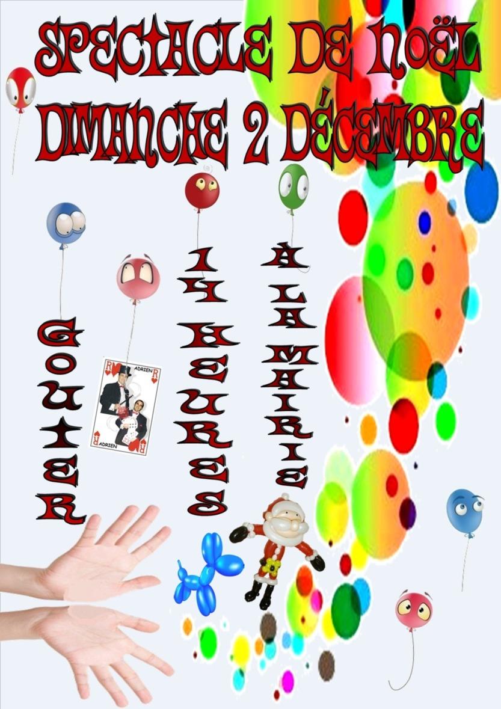 Spectacle de Noël Dimanche 2 Décembre,