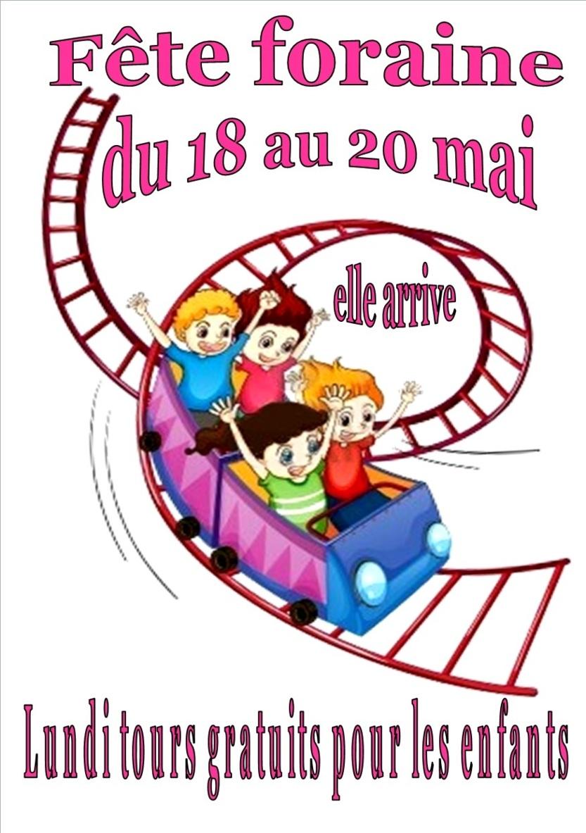 Fête foraine au village du 18 au 20 Mai