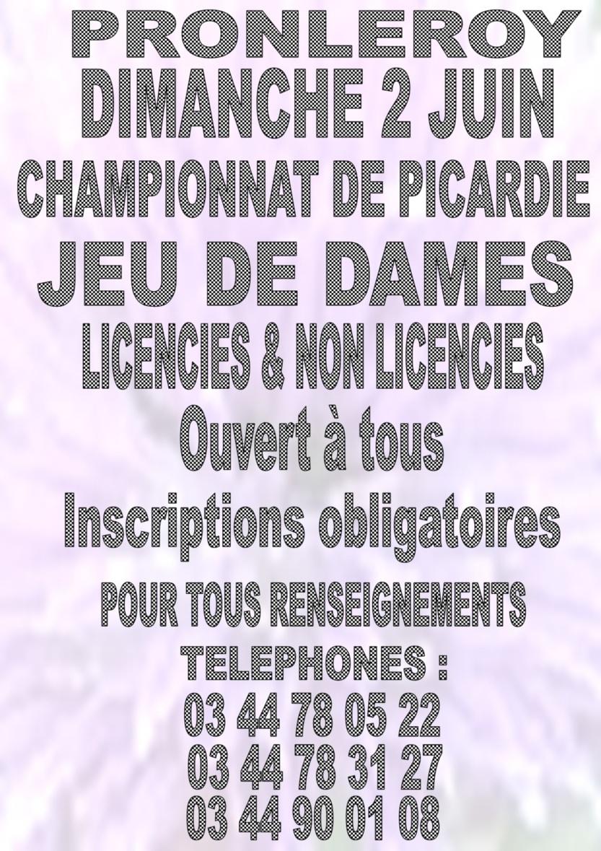 Concours de jeu de dames, championnat de Picardie, le 2 juin