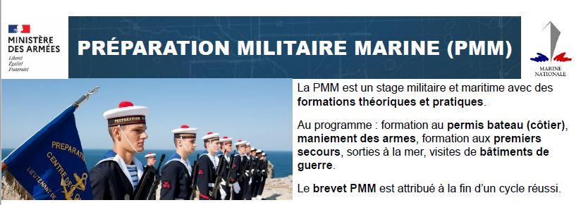LA MARINE NATIONALE Préparation Militaire cycle 2021-2022