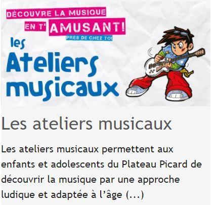 ATELIERS MUSICAUX Préinscriptions 2021-2022