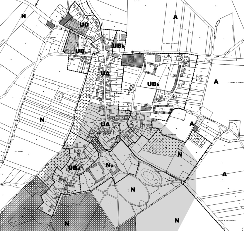 Plan de découpage en zones