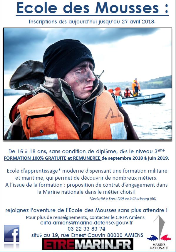 MARINE NATIONALE...Recrutement Ecole des Mousses