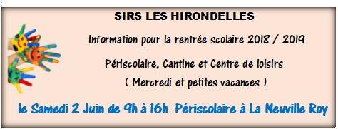 JOURNÉE d' INFORMATION: ( date modifiée )    SIRS Les Hirondelles
