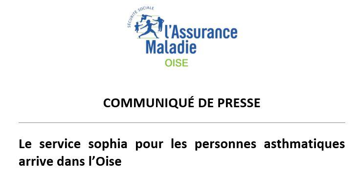 Communiqué de Presse...  SOPHIA ASTHME