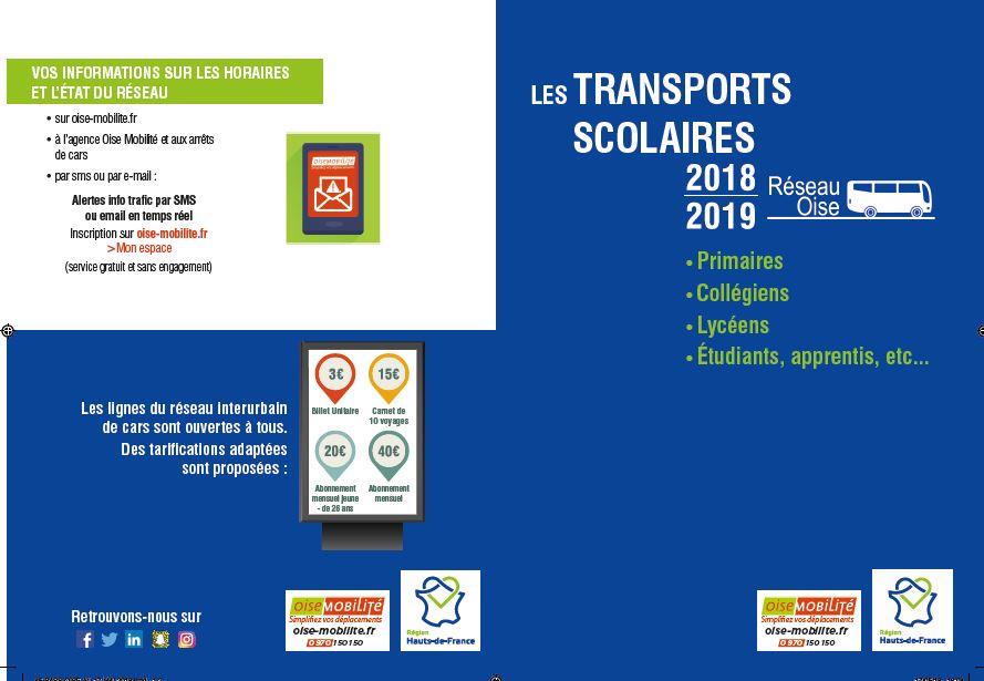 TRANSPORT SCOLAIRE  Inscription 2018 / 2019