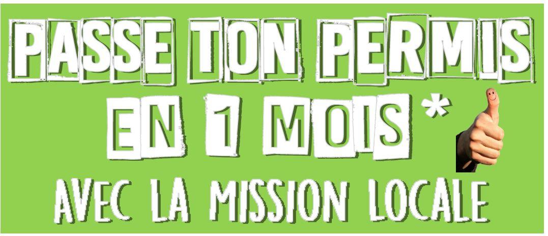 Passe ton Permis en 1 MOIS avec la Mission Locale