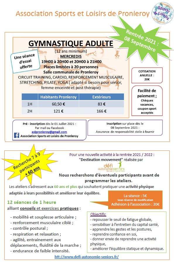 Association Sports et Loisirs de Pronleroy