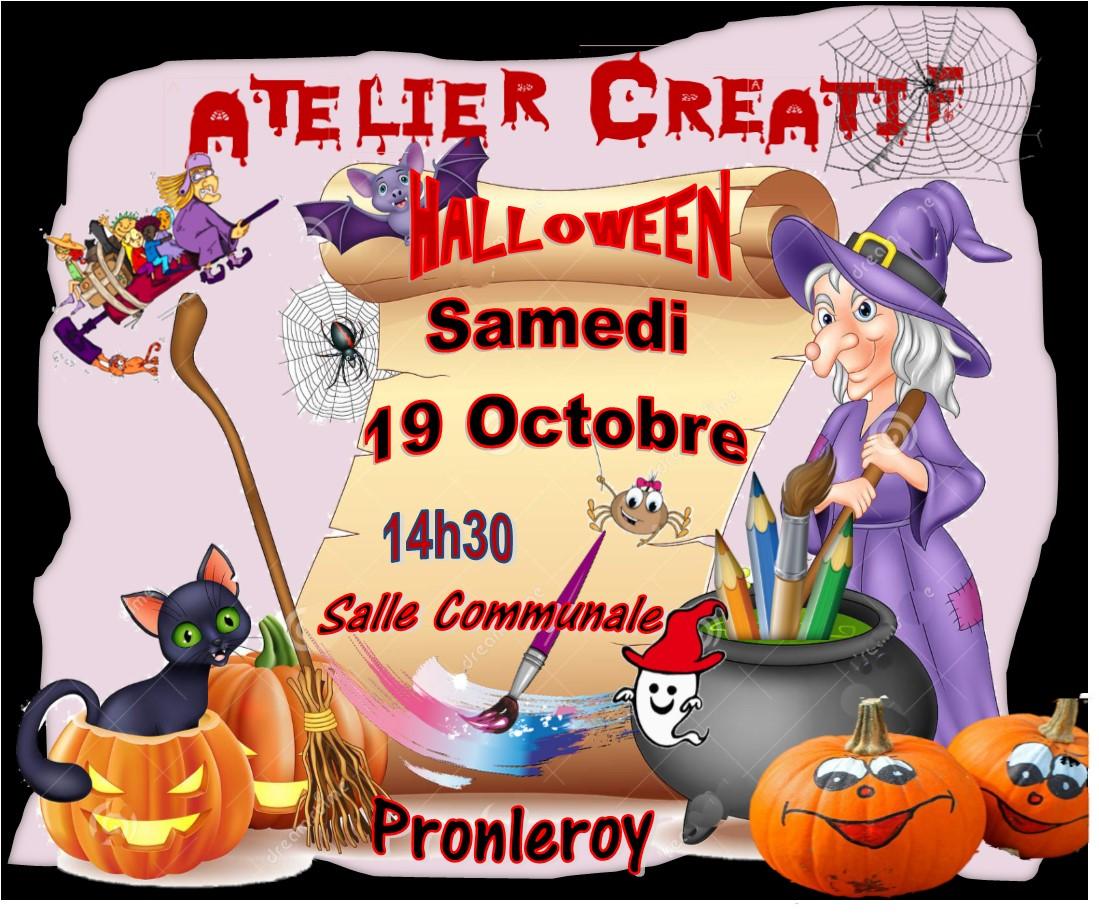 Atelier Créatif de HALLOWEEN du 19 Octobre
