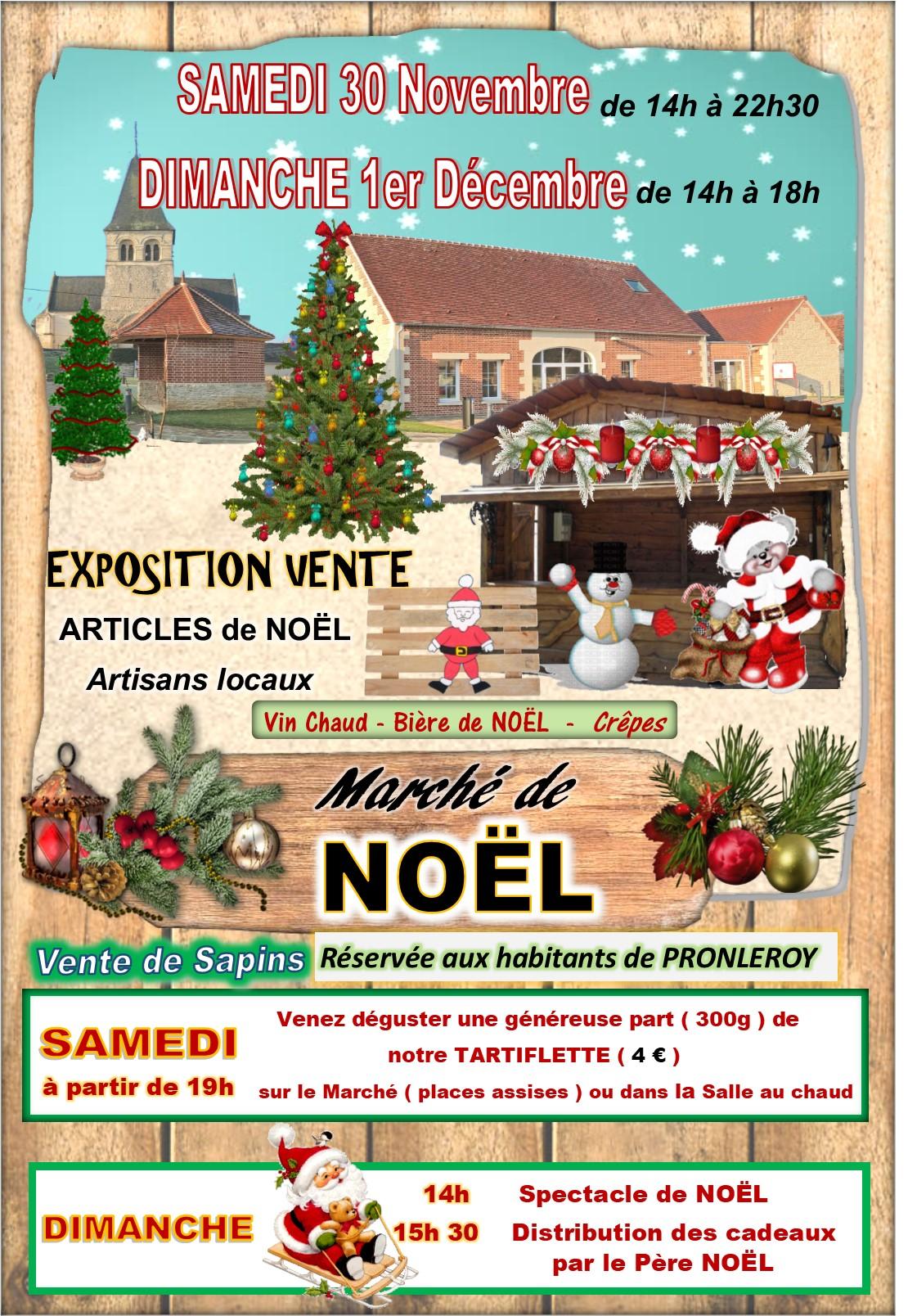 MARCHE de NOEL du 30 Novembre et 1er Décembre