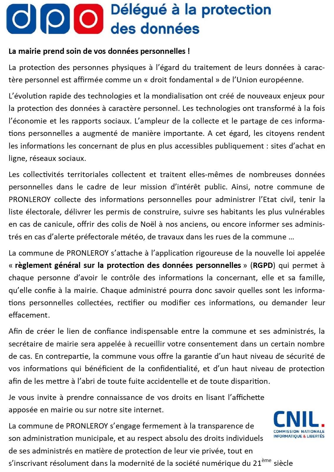 R G P D ...Règlement Général sur la Protection des Données Personnelles
