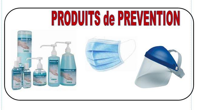 Achat de produits de PREVENTION virus COVID 19