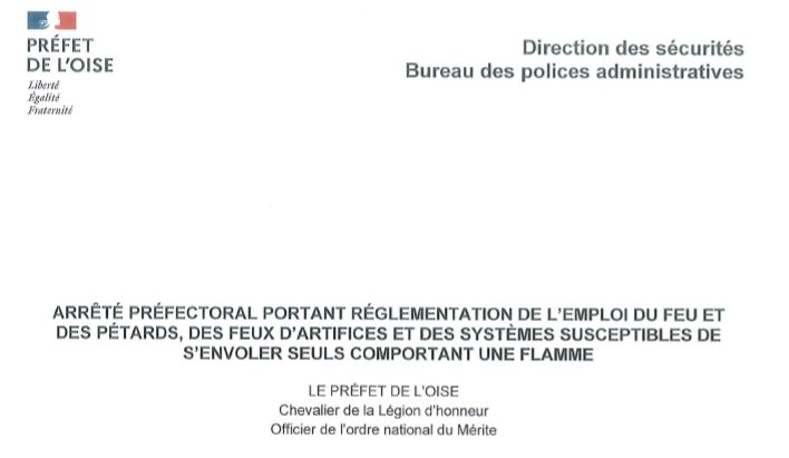 ARRETE PREFECTORAL règlementant l'emploi du feu ....